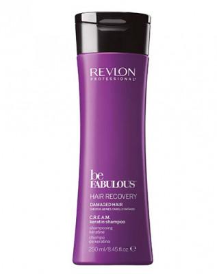 Очищающий шампунь с кератином Revlon Professional C.R.E.A.M. Be Fabulous 250 мл: фото
