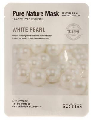 Маска тканевая с жемчугом Anskin Secriss Pure Nature Mask Pack- White pearl 25мл: фото