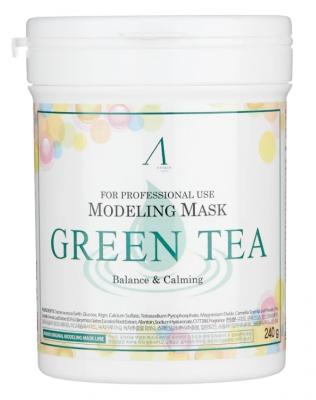 Маска альгинатная с зеленым чаем успокаивающая Anskin Green Tea Modeling Mask 700мл: фото