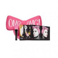 Набор Double Dare OMG! SPA из 4 масок, кисти и ярко-розового банта: фото