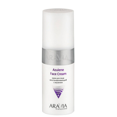 Крем для лица восстанавливающий с азуленом Aravia professional Azulene Face Cream 150 мл: фото