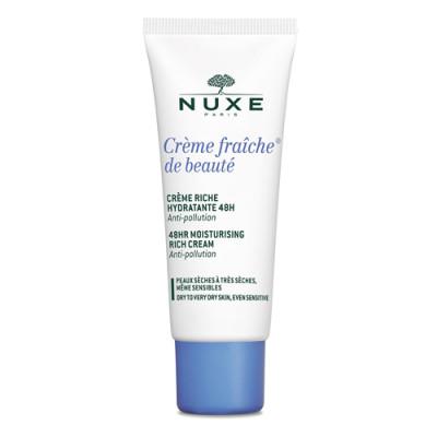 Крем 48ч насыщенный увлажняющий Nuxe Creme fraiche de beaute 30 мл: фото