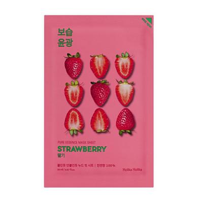 Маска тканевая освежающая с клубникой Holika Holika PURE ESSENCE Pure Essence Mask Sheet Strawberry 20 мл: фото