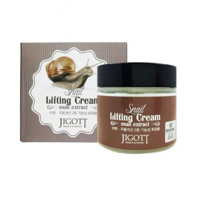 Крем-Лифтинг с муцином улитки JIGOTT Snail Lifting Cream: фото