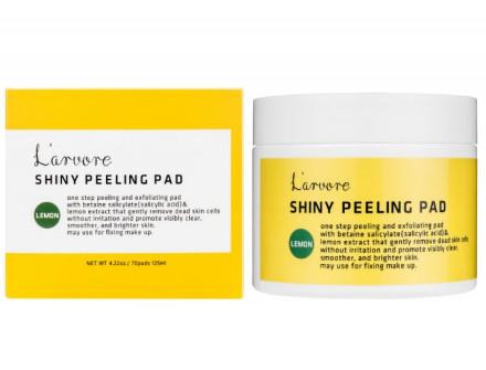 Пилинг-диски для лица с экстрактом лимона L'arvore Lemon Shiny Peeling Pad 70 шт: фото