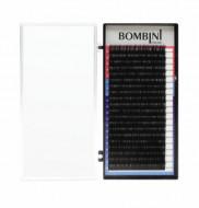 Ресницы Bombini Черные, 20 линий, изгиб С – MIX 9-12 0.07: фото