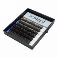 Ресницы Bombini Truffle Темно-коричневые, 6 линий, изгиб D mini-MIX 8-13 0.07: фото