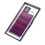 Ресницы Омбре BARBARA (фиолетовые №2) МИКС (C 0.10 7-15mm): фото