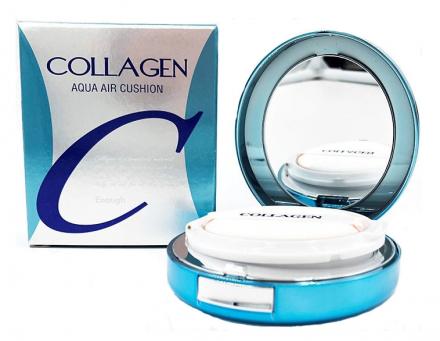 Тональный кушон КОЛЛАГЕН ENOUGH Collagen Aqua Air Cushion SPF50+ PA+++ №13, 15 г: фото