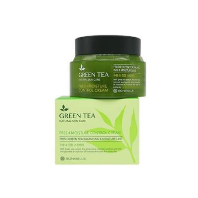 Крем для лица ЗЕЛЕНЫЙ ЧАЙ BONIBELLE Green Tea Fresh Moisture Control Cream 80мл: фото