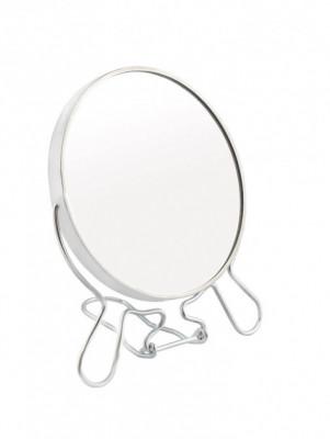 Зеркало настольное круглое в металлической оправе Hairway 110 мм: фото