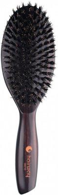 Щетка 9 рядов деревянная с натуральной щетиной Hairway Venge, большая: фото