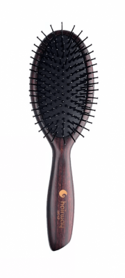 Щетка массажная на деревянной основе 11-рядная с нейлоновыми штифтами Hairway Venge 2, овальная малая: фото